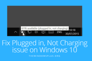 Plugged in, Not Charging