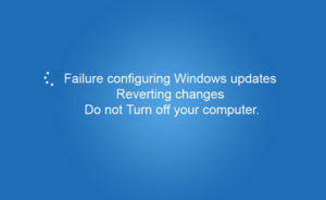 Failure configuring Windows updates. Reverting changes