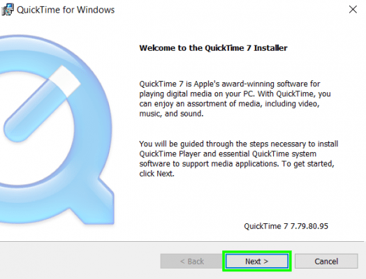 Download quicktime player 7. 77. 80. 95 filehippo. Com.