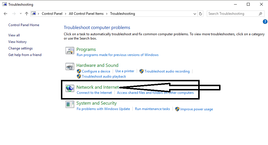 network computer issues windows 10