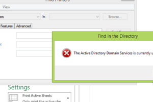 Active Directory Domain Services Currently Unavailable in Windows 10