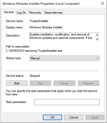 windows 10 sfc windows resource protection could not start