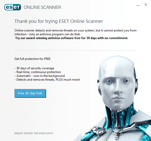 ESET Online Scanner Free Download - The Windows Plus