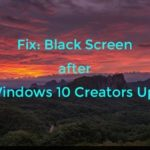 Fixes Windows 10 Black Screen after Fall Creators Update