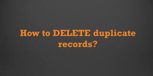 How to Delete Duplicate Rows in Excel and Google Sheets