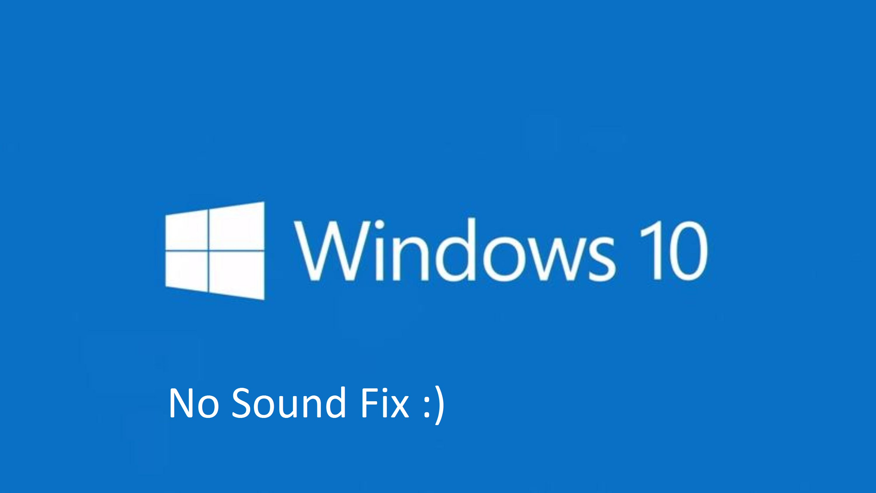 no sound on youtube after windows 10 update