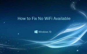 No Wi-Fi available