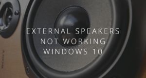 speakers are not working