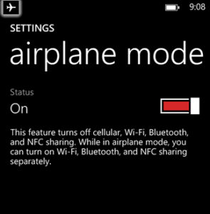 Airplane Mode On or Off