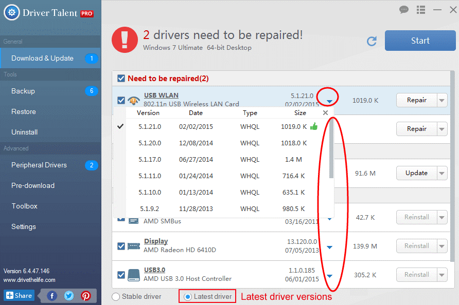 Download and install Driver Talent
