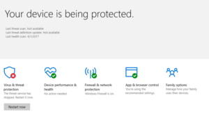 Microsoft Defender Threat Service has stopped