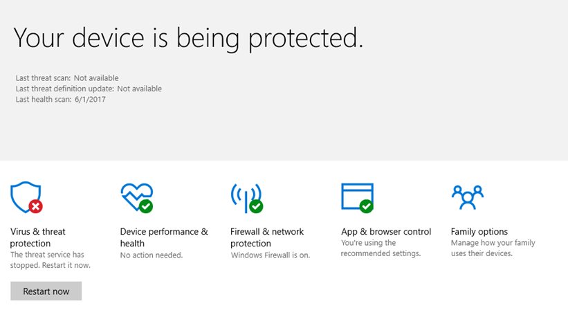 Microsoft Defender Threat Service has stopped – How to Fix