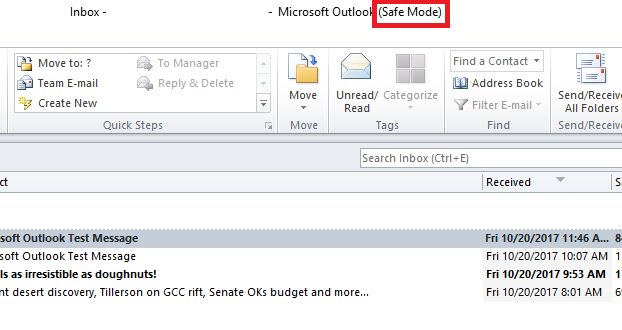 How to Get Outlook Out Of Safe Mode - The Windows Plus
