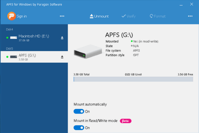 How to Open APFS Drives In Windows 10 - The Windows Plus