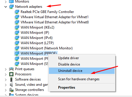 Fix Network Adapter Missing Issue in Windows 10/7/8