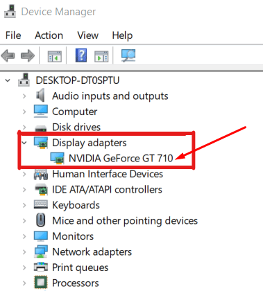 Expand the display adapter
